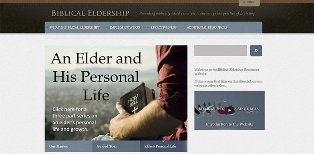 We Recommend:  Biblical Eldership Resources