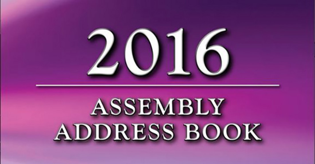 2016 Assembly Address Book