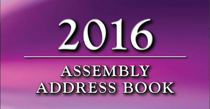 2016 Assembly Address Book